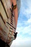 Ship breaking in Bangladesh Stock Photo