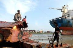 Ship breaking in Bangladesh Royalty Free Stock Photo