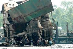 Ship breaking in Bangladesh Royalty Free Stock Photos