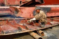 Ship breaking in Bangladesh Royalty Free Stock Image