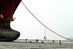 Free Ship Breaking In Bangladesh Royalty Free Stock Photography - 78887457