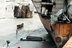 Free Ship Breaking In Bangladesh Royalty Free Stock Image - 78887806