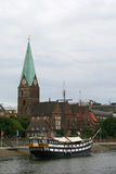 Ship in Bremen Germany Stock Images
