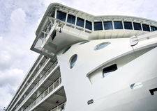 Ship Bridge. The bridge and side of a large luxury cruise liner Stock Image