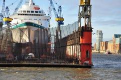 Ship building dock. Shipyard in Hamburg, Germany Stock Photography