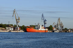 Ship-building shipyard to St. Petersburg. View of ship-building shipyard to St. Petersburg, Russia stock photos