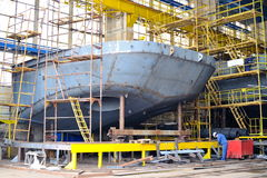Ship building Royalty Free Stock Image