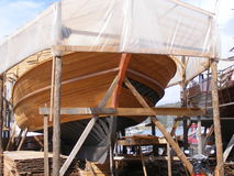 Ship Building Turkey. Boatyard in Fethiye, Southwest Turkey. Traditional, Turkish wooden boats are built and repaired here Stock Photography
