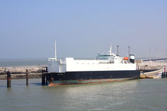 Ship in  Calais Stock Images
