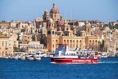 The ship of Captain Morgan Cruises  company passes on the bay al Stock Photography