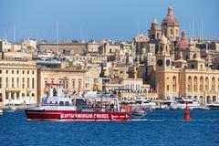 The ship of Captain Morgan Cruises  company passes on the bay al Royalty Free Stock Photos