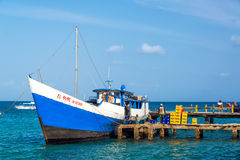 Ship at Capurgana Stock Photography