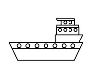 Ship cargo delivery service Royalty Free Stock Images