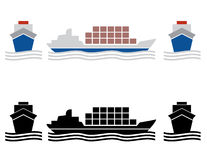 Ship cargo icons Royalty Free Stock Photography