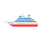 Ship cargo sea transportation vector illustration. vector illustration