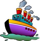 Ship cartoon. Illustrated colorful ship cartoon image vector illustration