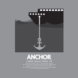 Ship Cast Anchor royalty free illustration