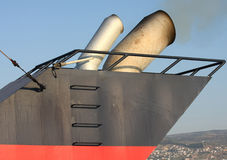 Ship chimney Stock Images