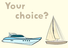 Ship choice Royalty Free Stock Images