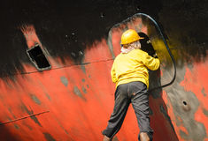 Ship cleaning Stock Images