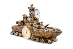 Ship with clock and thermometer Royalty Free Stock Photo