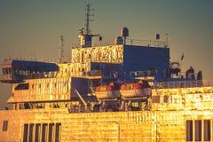 Ship closeup Stock Images