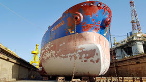 Ship coating at drydock Stock Photos