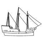 Ship coloring page Royalty Free Stock Images