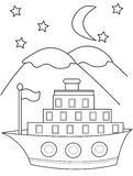 Ship coloring page Royalty Free Stock Photo