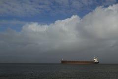 Ship On Columbia River Stock Photography