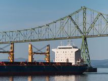 Ship on the Columbia River Stock Image