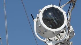 Ship Communication Spotlight stock video footage