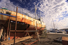 Ship construction,port Sozopol. Stock Image