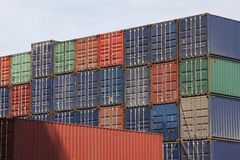 Ship containers Royalty Free Stock Images