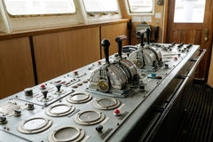 Ship control bridge Royalty Free Stock Photo