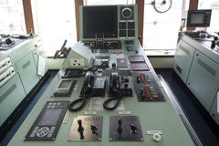 Ship control panel and Phone on tanker . Royalty Free Stock Photography