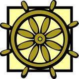 Ship control wheel vector illustration Royalty Free Stock Photography