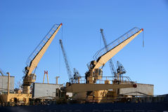 Ship cranes Stock Photography