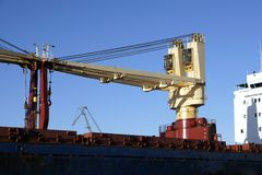 Ship cranes Royalty Free Stock Photos
