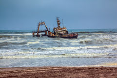 The ship crashed many years ago Royalty Free Stock Image