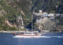 Free Ship Cruise Around Mount Athos - Greece Royalty Free Stock Photos - 86602098