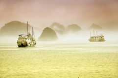 Ship cruise. Halong Bay, Vietnam Stock Photography