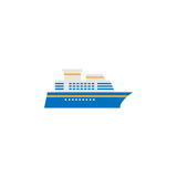 Ship and Cruise solid icon, navigation. And transport sign, boat vector graphics, a colorful pattern on a white background, eps 10 Royalty Free Stock Photo