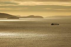 Ship at dawn Stock Photos
