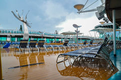 Ship Deck. Cruise ship deck after rain Stock Images