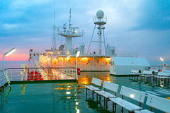 Ship deck in the rain Stock Photography
