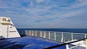 Ship Deck on the way back to UK royalty free stock images