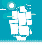 Ship decorative vector illustration Stock Image