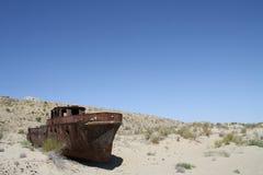 Ship in the Desert Stock Photo