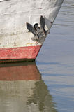 Ship detail with anchor Royalty Free Stock Photo